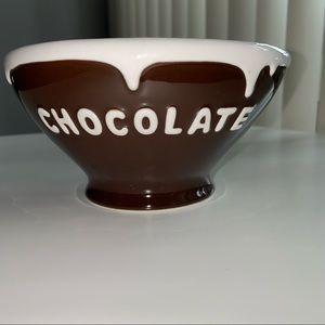 Pottery Barn Chocolate White Ice Cream Big Bowl